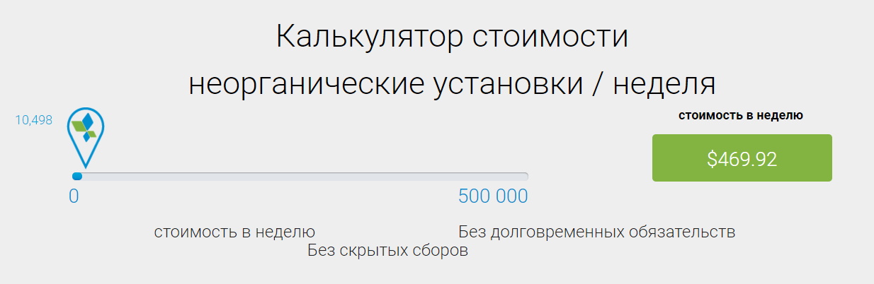 Калькулятор стоимости платного пакета для русскоязычной версии сайта