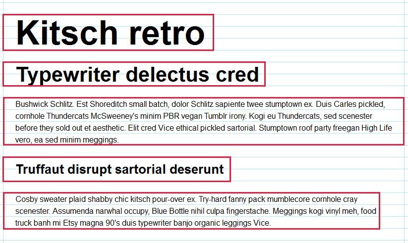 При верстке сайта рекомендуется задавать такой размер шрифтов и междустрочный интервал, чтобы все элементы текста вписывались в горизонтальную сетку