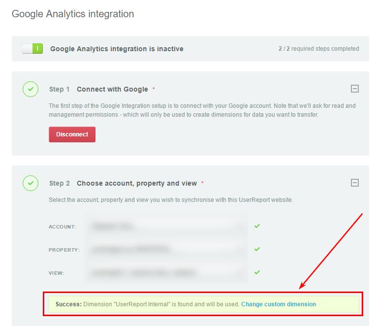 Данные NPS опросника из сервиса можно отправлять в Google Analytics с помощью custom dimensions