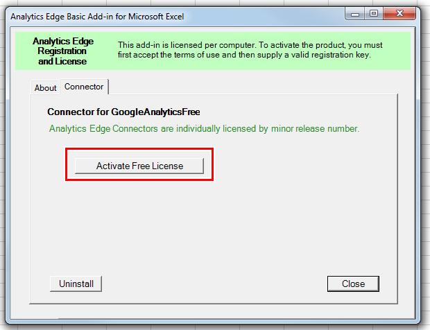 Нажмите кнопку Activate Free License, после чего надстройка оповестит вас об успешной активации