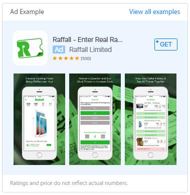 Пример на реклама в Apple Store Ads