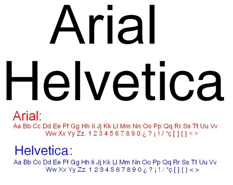 Popular Arial font is nothing else but slightly changed Helvetica.