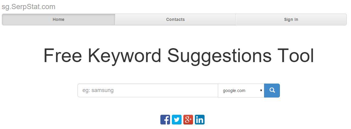 Free Keyword Suggestions Tool