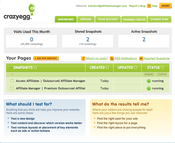 Generate a heatmap for your website in order to observe visitor behavior on individual pages