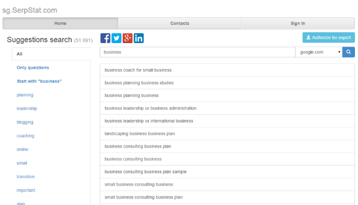 A simple, effective keyword suggestion tool that bases its results off of popular search queries