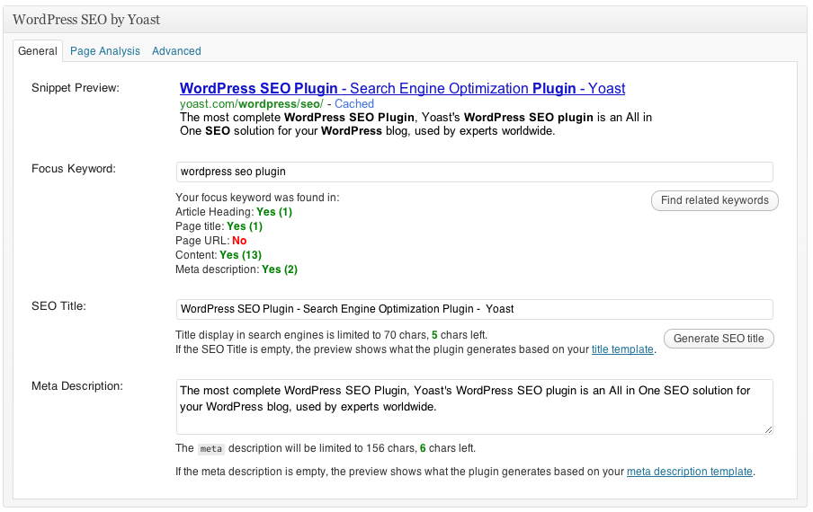 Yoast is the definitive replacement for WP's default SEO settings