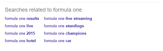 search related to formula one