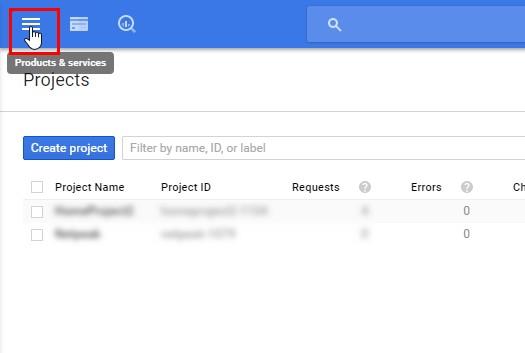 How yo create Developer Client in Google developer console