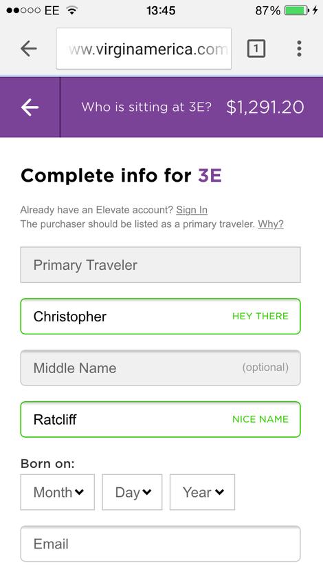 Още при регистрацията потребителят автоматично получава няколко приятни комплимента :)