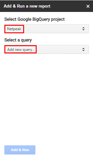 выбираем пункт Add new query