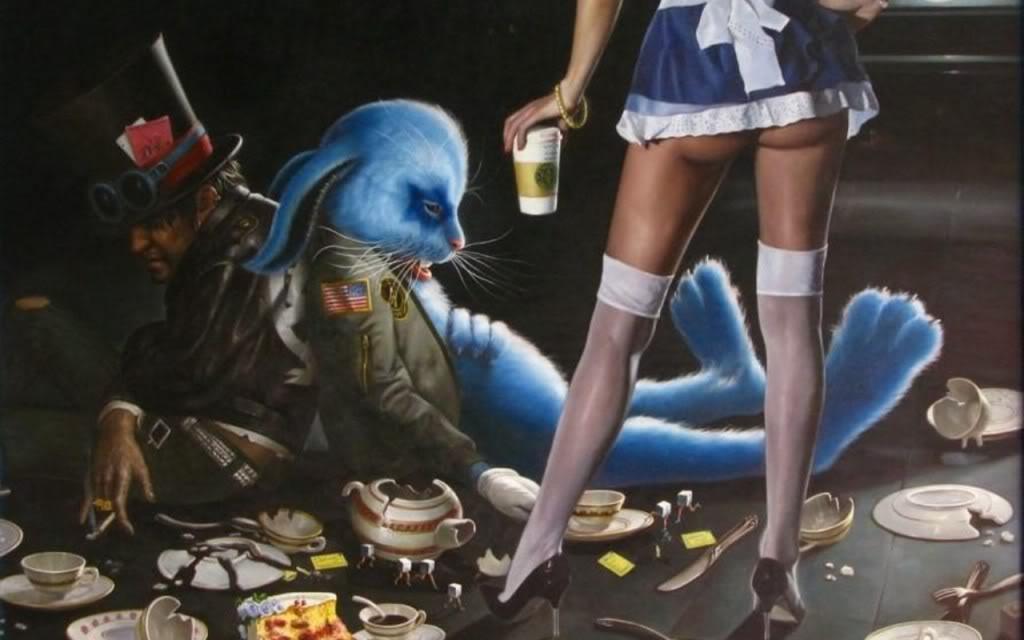 «Алиса в стране чудес» — одна из самых известных работ художника Эко