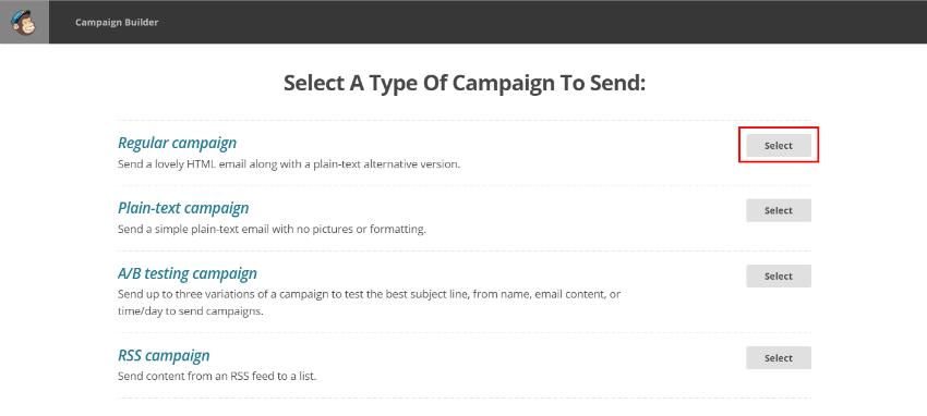 Как да се прати обикновен бюлетин в MailChimp