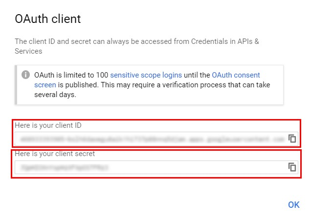 011 Oauth client