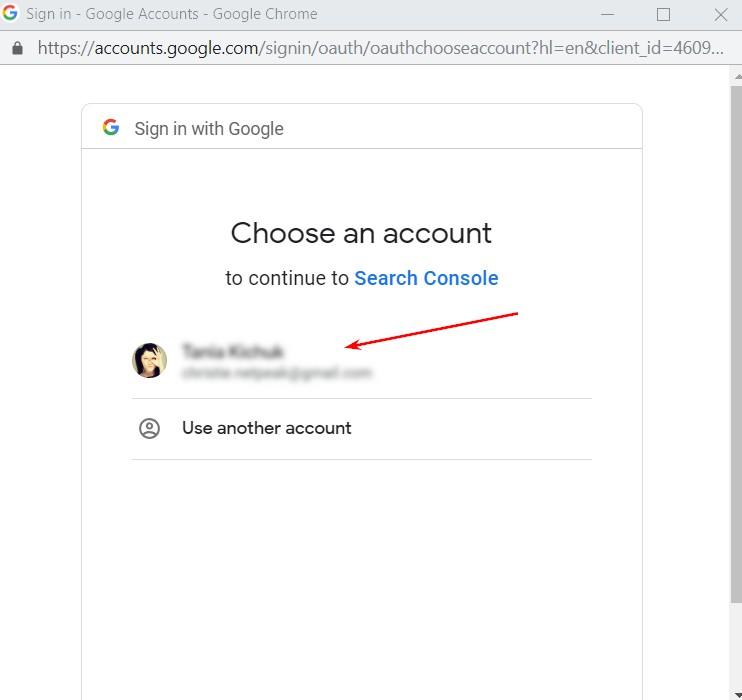 015 choose an account