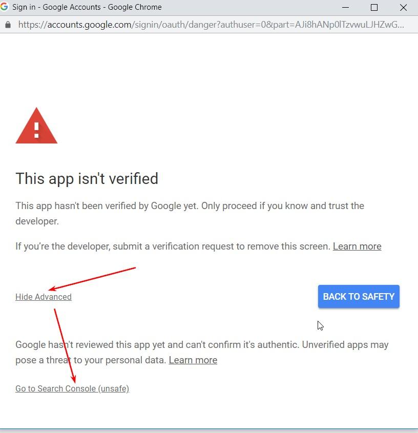 016 app not verified