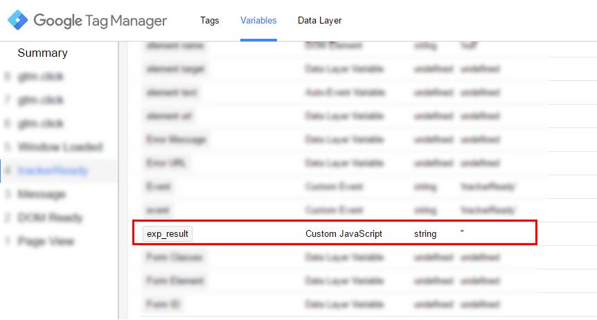Соответствие типов данных в Google Tag Manager
