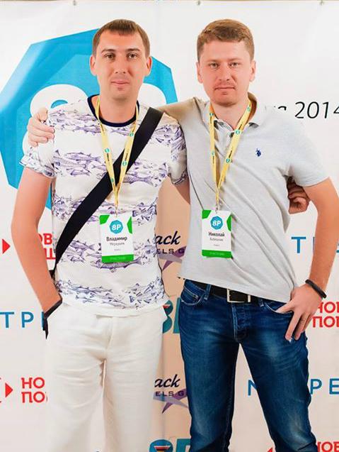 Владимир Меркушев и CEO Kolesa.kz Николай Бабешкин на 8P.