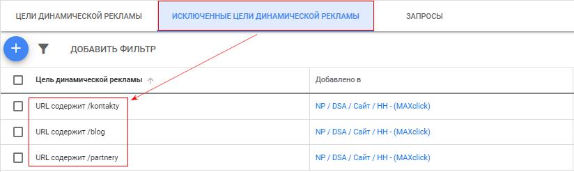 Добавили в исключения сервисные страницы сайта в тематике «онлайн-кассы»