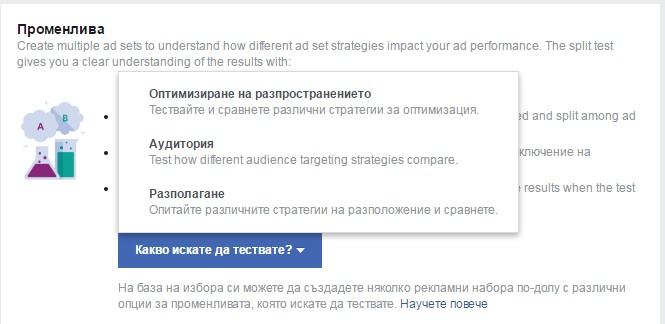 A/B-тест във Facebook