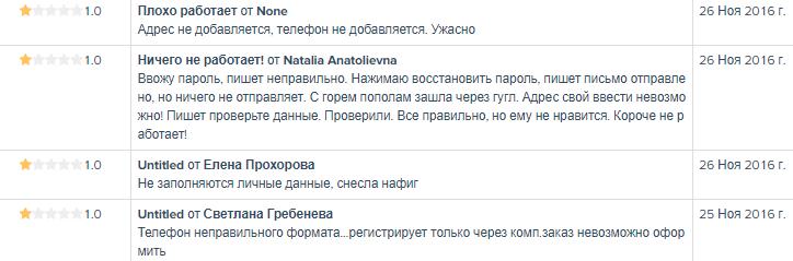 Анализ показателей приложения в AppAnnie по отзывам пользователей