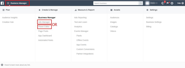 Ads Manager е мястото, където можете да създавате вашите кампании, продуктови каталози и реклами, да избирате аудитории, да оптимизирате кампаниите си
