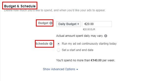 Настройте бюджет и график за показване на рекламите
