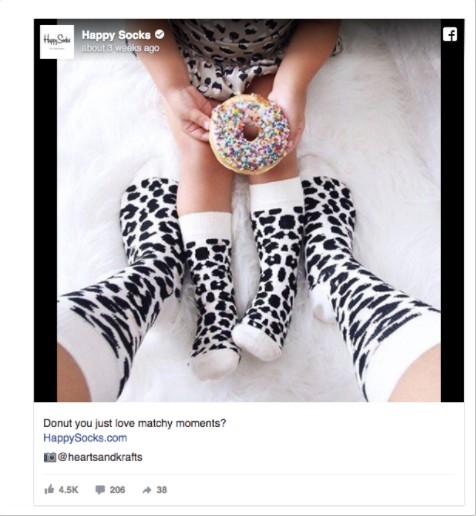 реклама на компания за дизайнерски чорапи за мъже, жени и деца - Happy Socks