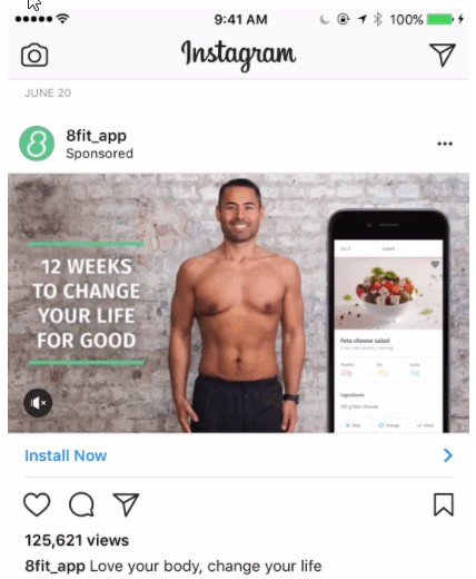 Реклама на приложение 8Fit