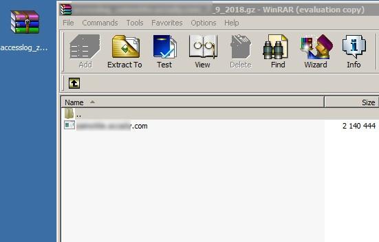 Променяте разширението на файл на .log