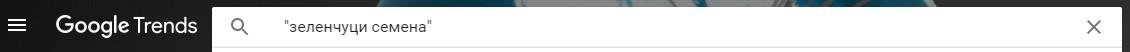 търсене в кавички в Гугъл Тенденции