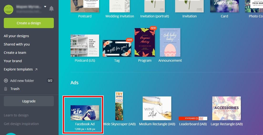 За новаците препоръчвам да се възползват от шаблонните решения за Facebook Ads банер