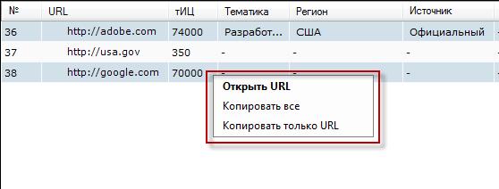Netpeak Checker - копирование результатов