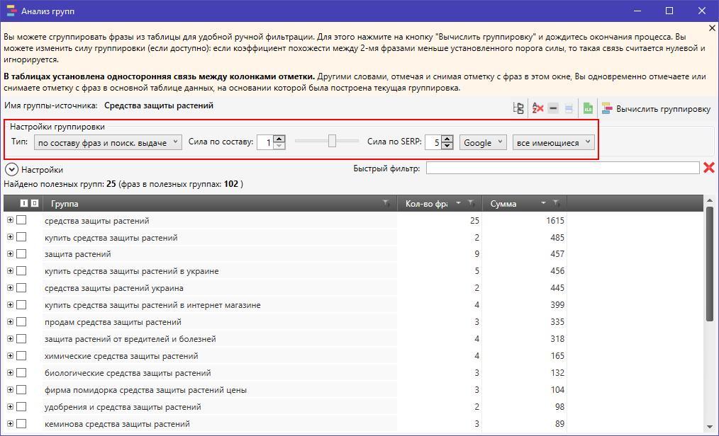 Как быстро проанализировать группы поисковых запросов