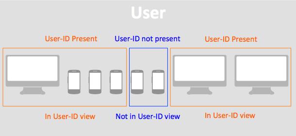 Если User-ID не определен, то данные в представление (View) поступать не будут