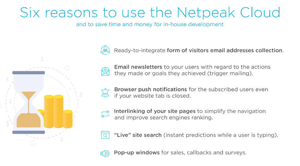 6 reasons to use Netpeak Cloud