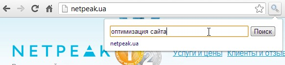 плагин Search the current site