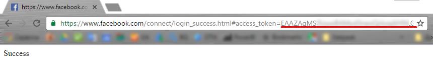 токен за достъп до API ще се появи в адресния ред на Вашия браузър в параметъра access_token