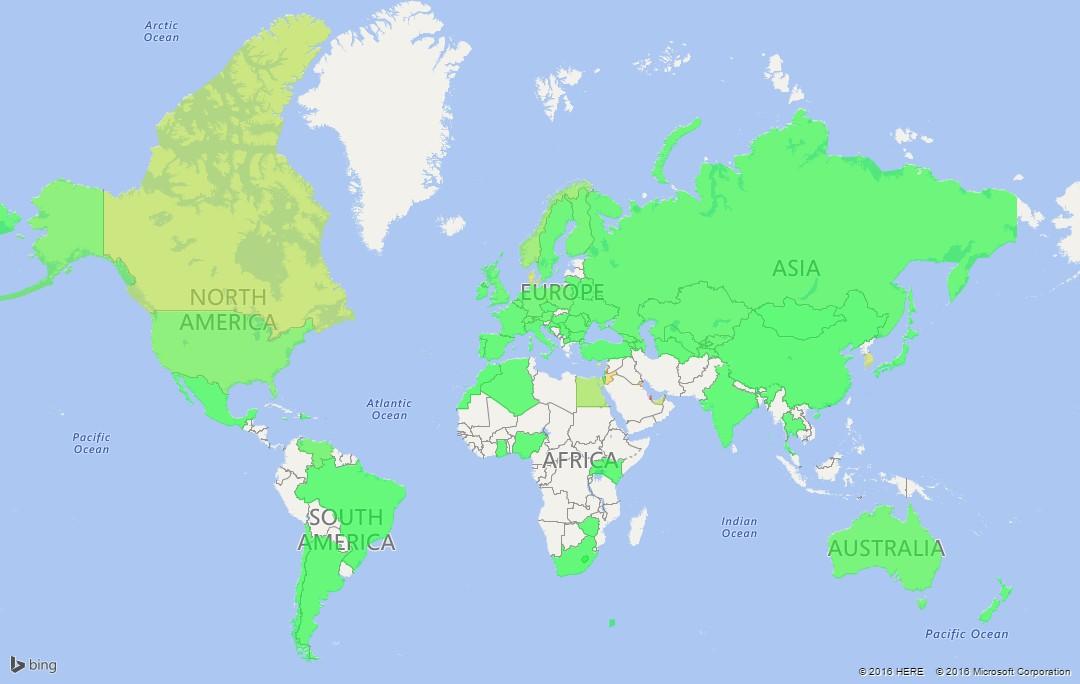 Карта стоимости клика в контекстно-медийной сети Google