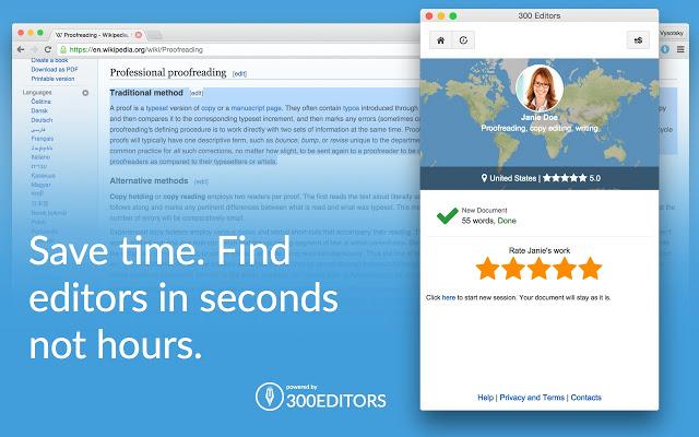 Мы cделали упор на качественных редакторов и онлайн-редактирование