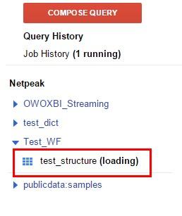 После этого будет запущен процесс загрузки данных в созданную таблицу