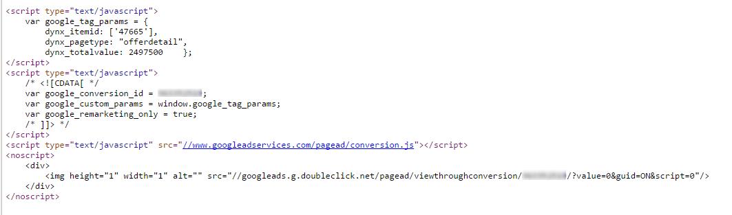 Пример реализации специальных параметров на сайте клиента
