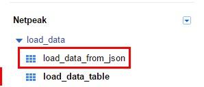 Жмем «Submit», и через несколько секунд в наборе данных «load_data» появится еще одна таблица