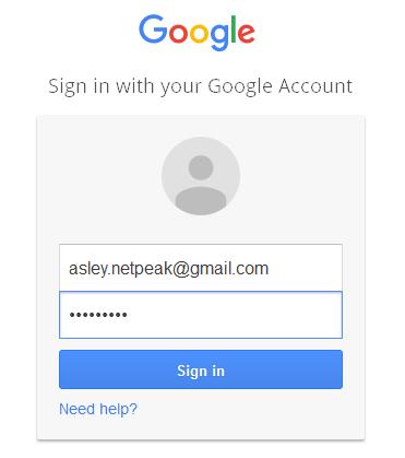 Заходим в аккаунт Google
