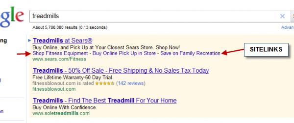 Дополнительные ссылки в Google Adwords