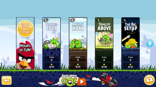 пример успешного приложения с freemium моделью монетизации — Angry Birds