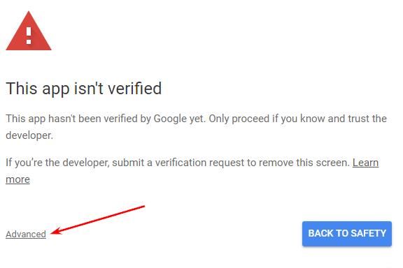Авторизация в Google Apps Script шаг 3