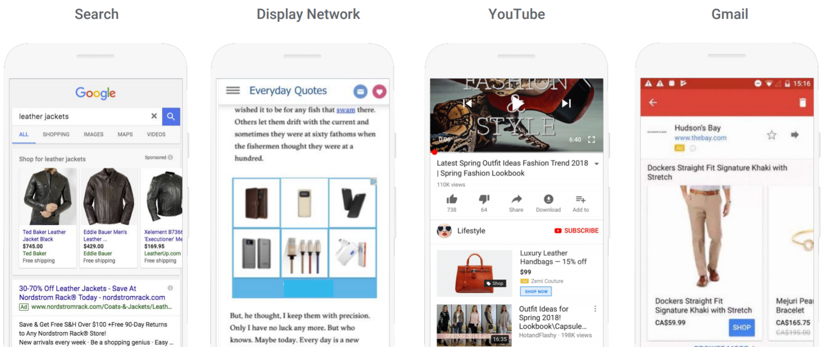 Баннеры умных торговых кампаний в разных браузерах