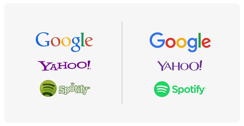 бренды направлены на упрощение шрифтов