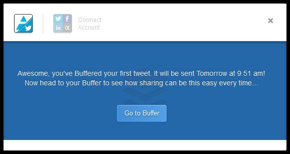 твит в Buffer