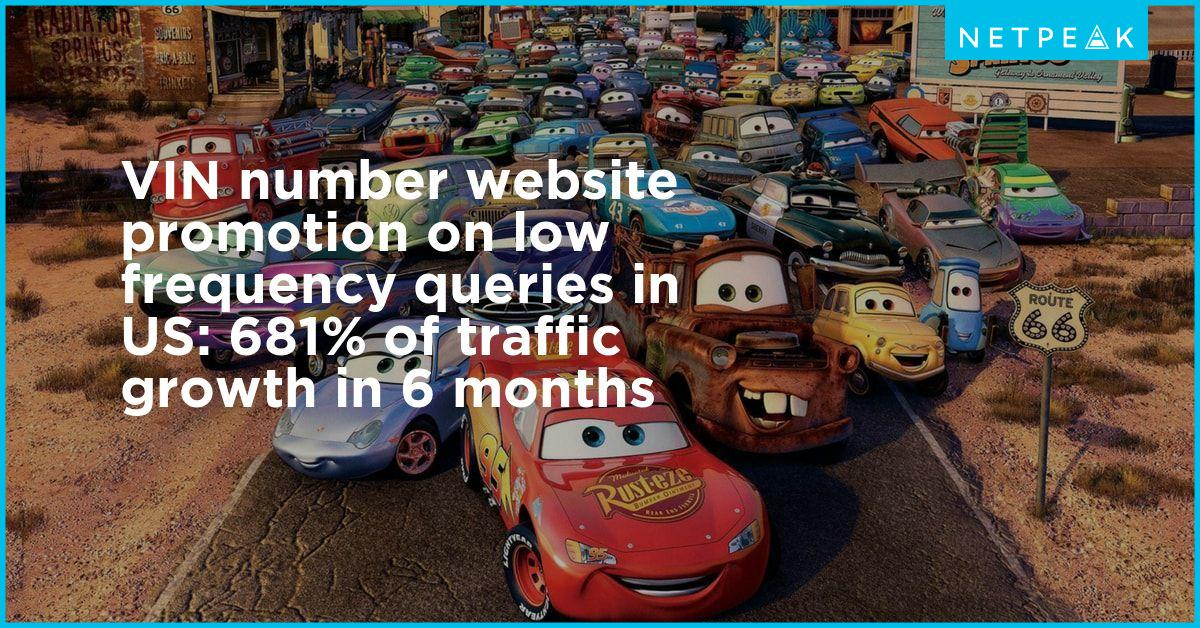 vin number website promotion on low frequency queries in us 681 of